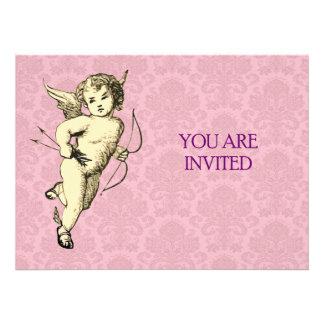 Vintage Cupid Illustration Custom Announcement