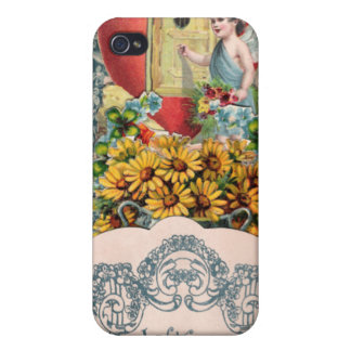 Vintage Cupid Illustration iPhone 4 Cover