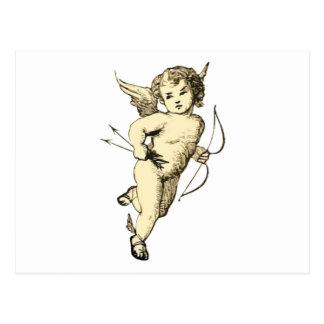 Vintage Cupid Illustration Postcard