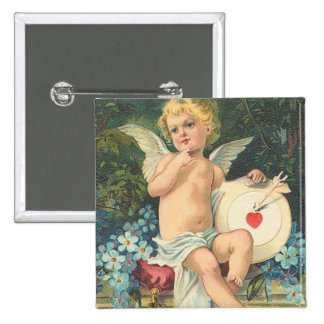 Vintage Cupid & Mark Pinback Button