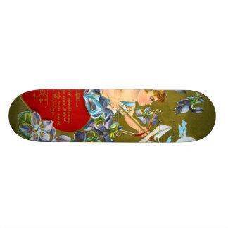 Vintage Cupid & Moonbeam Valentine Skateboard Deck