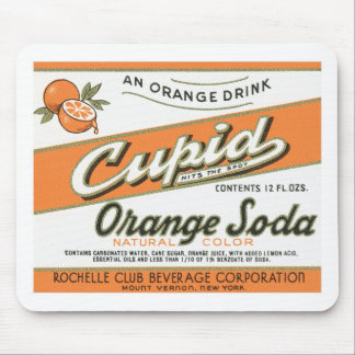 Vintage Cupid Orange Soda Label Mouse Pad