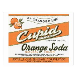 Vintage Cupid Orange Soda Label Postcard