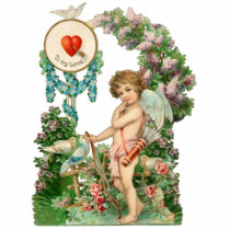 Vintage Cupid Photo Sculpture