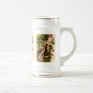 Vintage Cupid watches over lovers Mugs