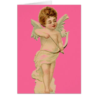 Vintage  Cupid with Bow and Arrow Greeting Card