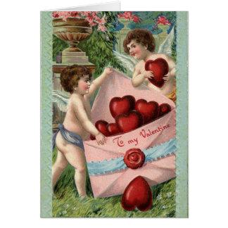 Vintage Cupids Valentine Card