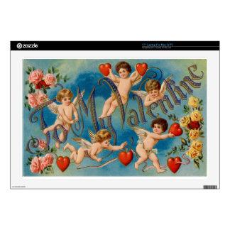 """Vintage-cupids-valentine.jpg 17"""" Laptop Decals"""