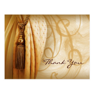 Vintage Curtains Salon Thank You Postcard