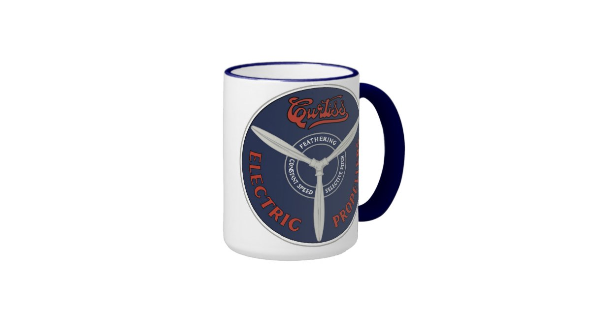 Vintage curtiss electric propeller mug zazzle for Alpine cuisine bs 400 propane burner