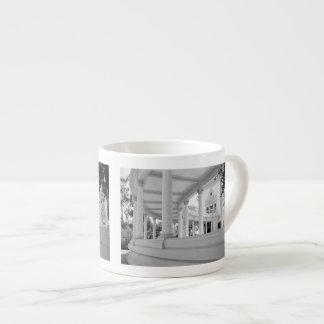 Vintage Curved Colonnade 6 Oz Ceramic Espresso Cup