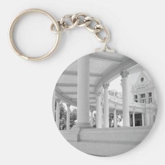 Vintage Curved Colonnade Basic Round Button Keychain