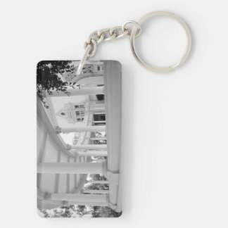 Vintage Curved Colonnade Double-Sided Rectangular Acrylic Keychain