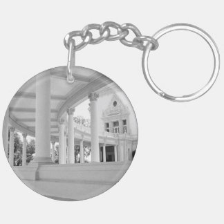 Vintage Curved Colonnade Double-Sided Round Acrylic Keychain