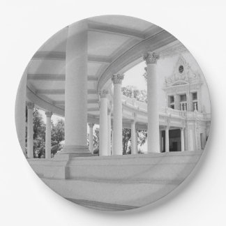 Vintage Curved Colonnade Paper Plate
