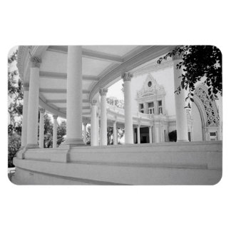 Vintage Curved Colonnade Rectangular Photo Magnet