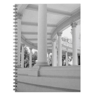 Vintage Curved Colonnade Spiral Note Book