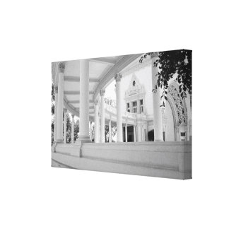 Vintage Curved Colonnade Stretched Canvas Print