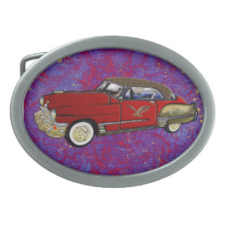 Vintage Custom 1949 Cadillac Coupe de Ville Oval Belt Buckle