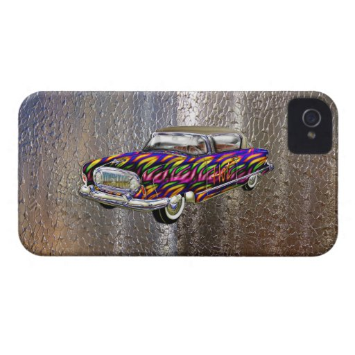 Vintage Custom 1955 Nash Abstract Fire Automobile iPhone 4 Covers