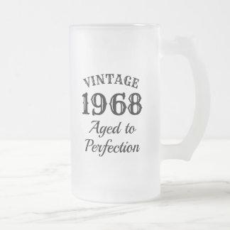 Vintage custom beer mug gift for men's Birthday