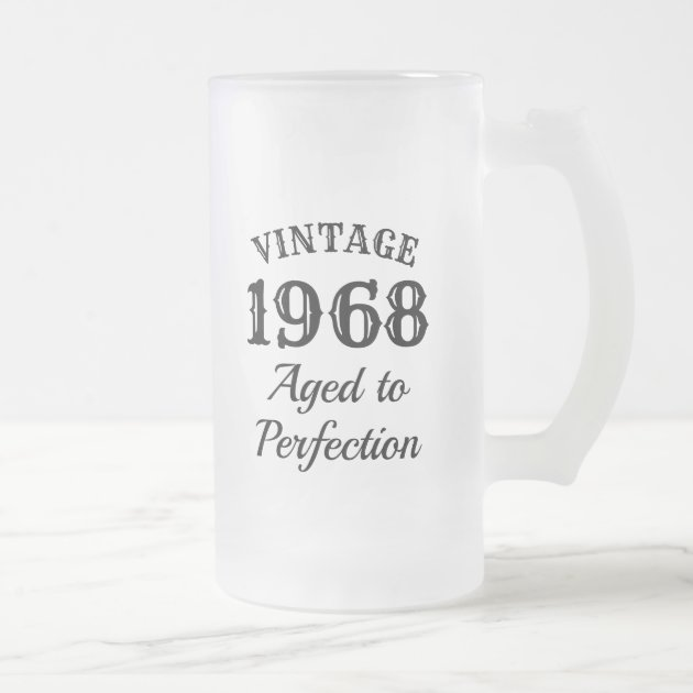 Vintage Custom Beer Mug Gift For Men S Birthday Zazzle Com