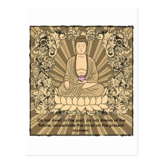 Vintage Custom Buddha Postcard