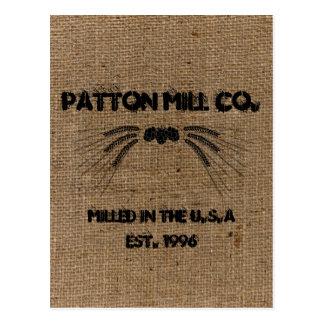 Vintage Custom Burlap Mill Company Advertising Postcard