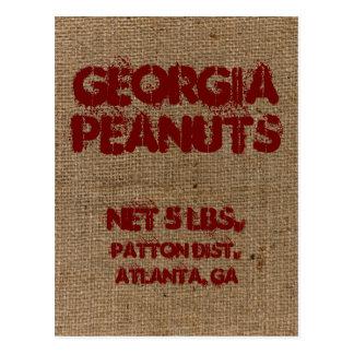 Vintage Custom Burlap Peanut Advertising Postcard