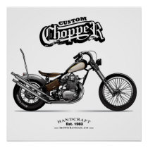 Vintage Custom Chopper Motorcycle