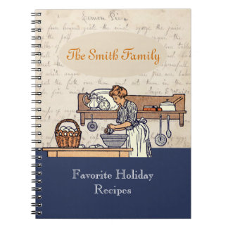 Vintage Custom Family Holiday Recipe Notebook III
