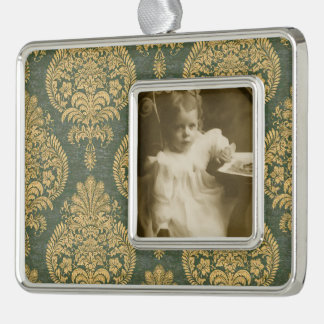 Vintage Custom Framed Ornament Silver Plated Framed Ornament
