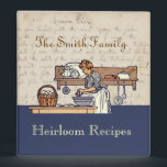 """Vintage Custom Heirloom Family Recipe Binder<br><div class=""""desc"""">Fill this binder with the family recipes that your family treasures. The cover images came from an antique handwritten recipe book and a 1909 menu book. Customize the title on the front cover and on the spine with your own title and/or family name. NOTE: You may want to break the...</div>"""