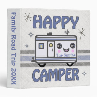 Vintage Custom Kawaii Happy Camper Binder