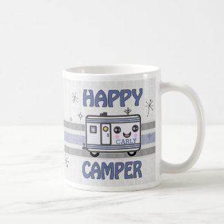Vintage Custom Kawaii Happy Camper Mug