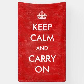 Vintage Custom Keep Calm and Carry On Customizable Banner