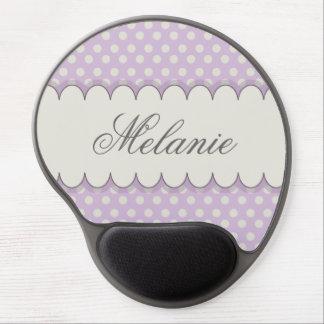 Vintage Custom Personalized Purple Polka Dots Gel Mouse Pad