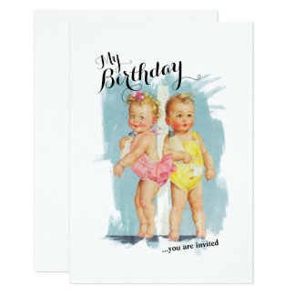Vintage Customisable Childs Birthday Invite