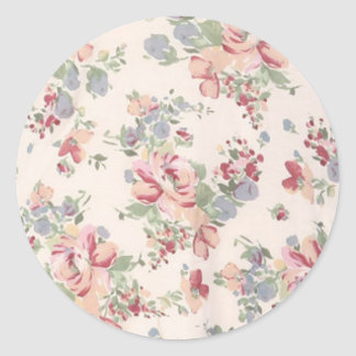 Vintage Customizable Floral Print Sticker