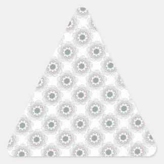 Vintage Customizable Pattern - Weddings Triangle Sticker