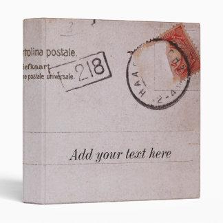 Vintage customizable postcard design binder