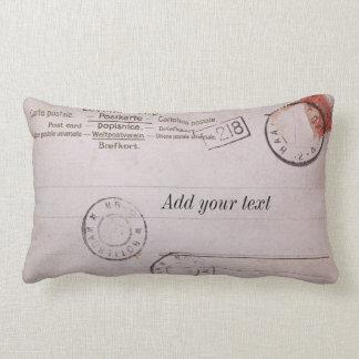 Vintage customizable postcard design throw pillow