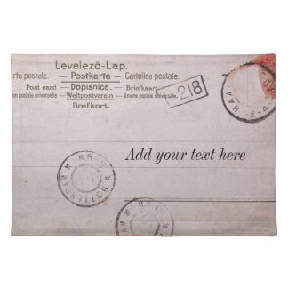 Vintage customizable postcard design placemat