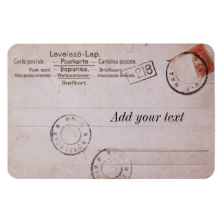 Vintage customizable postcard Design Vinyl Magnets