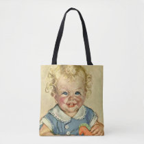 Vintage Cute Blonde Scandinavian Baby Boy or Girl Tote Bag