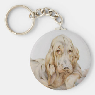 Vintage Cute Bloodhounds, Puppy Dogs by EJ Detmold Keychain