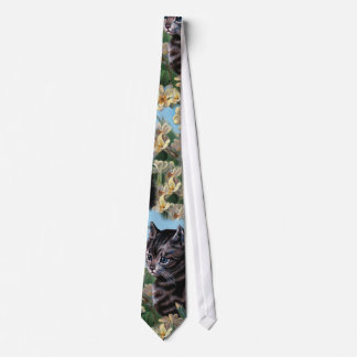 Vintage Cute Cat Kitten Animal Collage Wallpaper Tie
