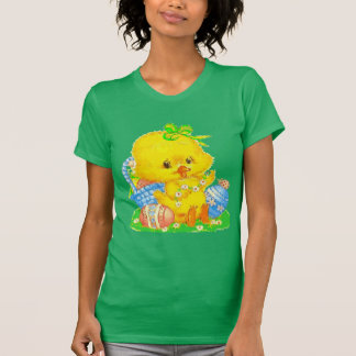 Vintage Cute Easter Duckling and Easter Egg Shirt