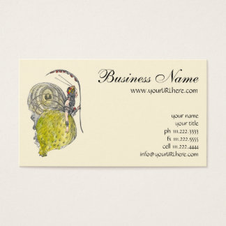 Vintage Cute Fantasy Butterfly Fairy with Wings Business Card