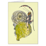 Vintage Cute Fantasy Butterfly Fairy with Wings Greeting Card